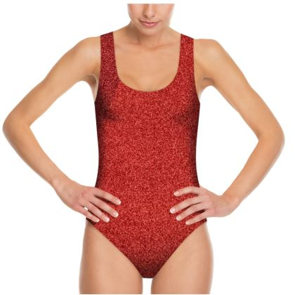 Beautiful Shades of Red Swimsuit © US and National