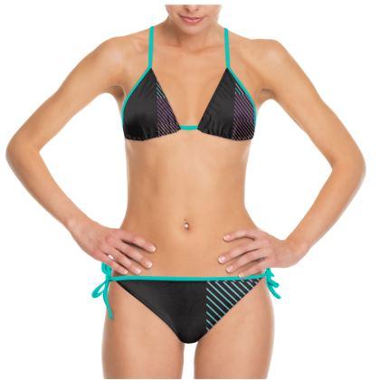 Colorful Stripe Design Bikini
