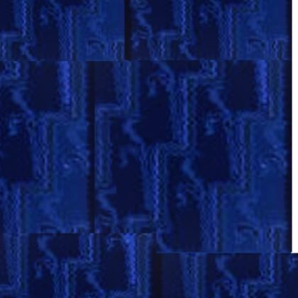 Blue Woman and Lion Crossbody Bag With Chain © US and National