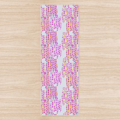 Textural Collection in grey and magenta Yoga Mat