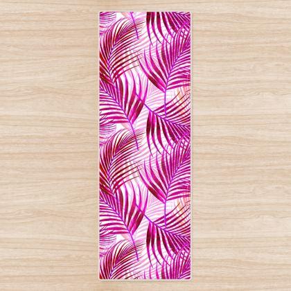 Tropical Garden Collection in Magenta Yoga Mat