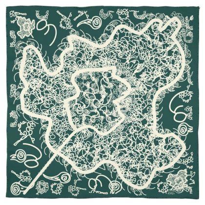 Quantum Biology Silk Scarf