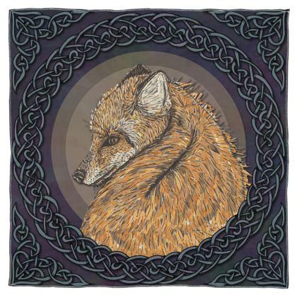 Celtic Fox Scarf, Wrap or Shawl