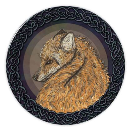 Celtic Fox China Plate