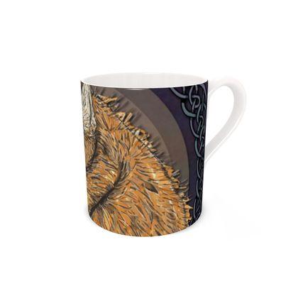 Celtic Fox Bone China Mug