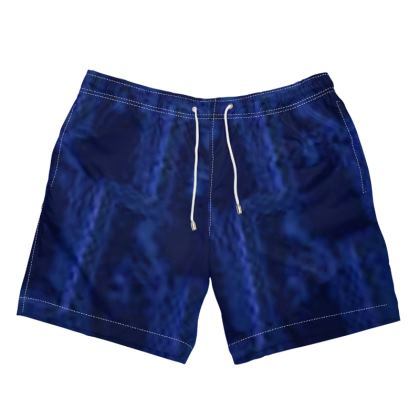 Men's Blue Design Swimming Shorts