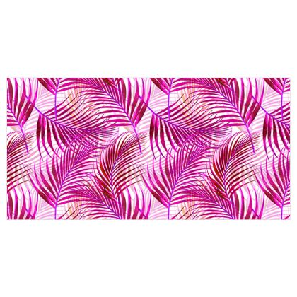 Tropical Garden in Magenta Collection Voile Curtains