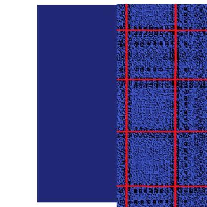 Men's Red, Blue and Black Box Pattern Design T-Shirt ©