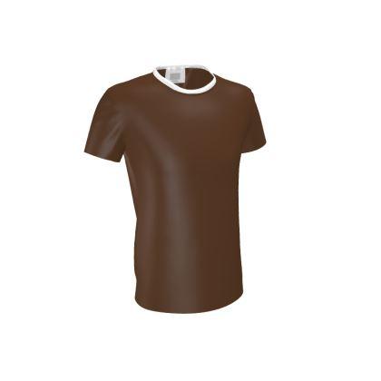 Shades of Brown Box Design Cut and Sew T Shirt ©