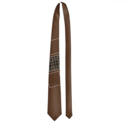 Shades of Brown Box Design Tie ©