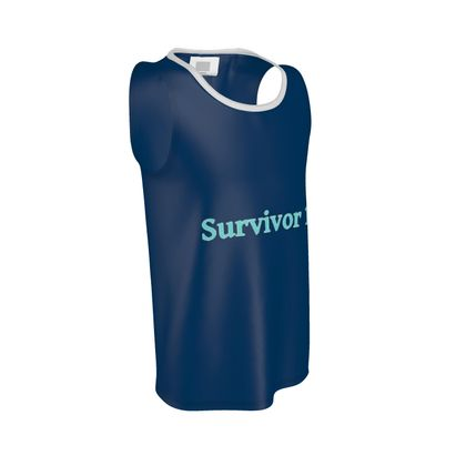 Blue Cut and Sew Vest ®