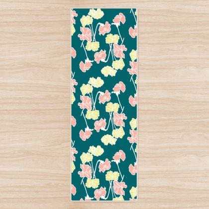 Yoga Mat Sweet Peas Floral