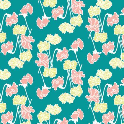 Cushion Sweet Peas Floral