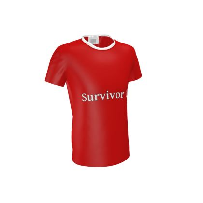 Men's Red Cut and Sew T-Shirt ®