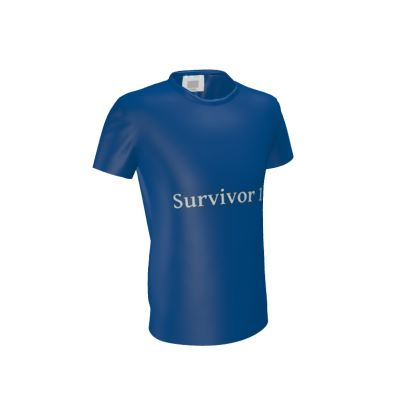 Blue Men's Cut and Sew T-Shirt ®