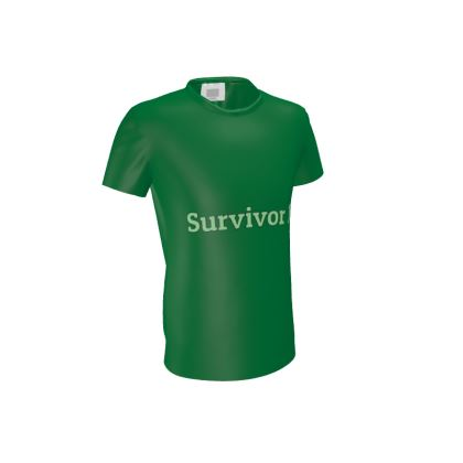 Green T-Shirt With Survivor 1 Text © ®