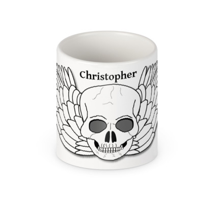 Personalised Skull Design Mug