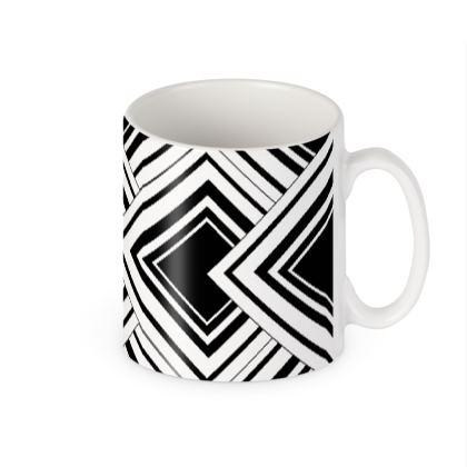 Tea Mug  black And White Design