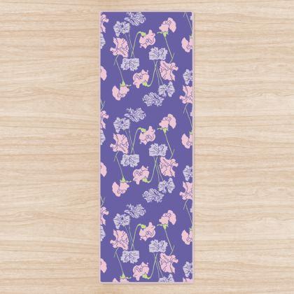 Yoga Mat Purple Floral