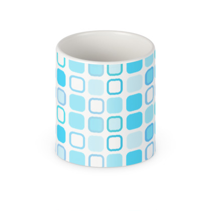 Retro Art Design Blue Mug
