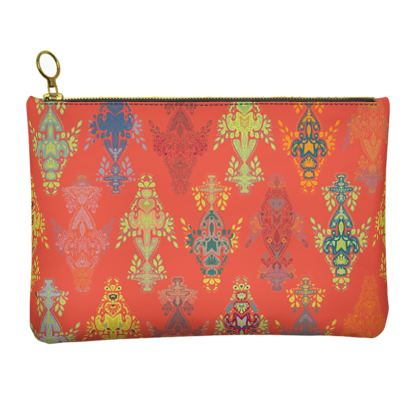 India Holi Collection - Leather Clutch Bag