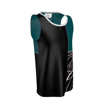Men's Leaf Design Cut and Sew Vest ©