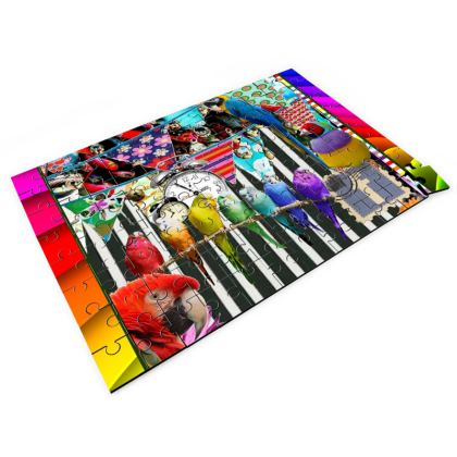 Birds and Bunting Jigsaw Puzzle