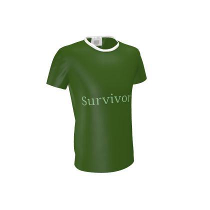 Green T Shirt With Survivor 1 Text ®