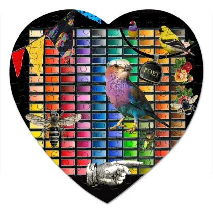 Colour Chart in Nature Heart Jigsaw