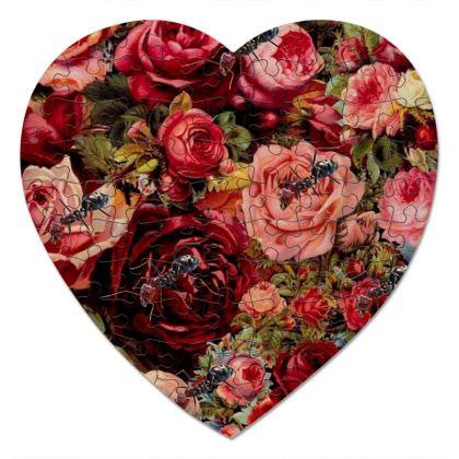 Ants n Roses Heart Jigsaw