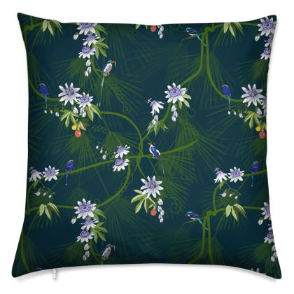 Paradise Kingfishers - Luxury Cushion