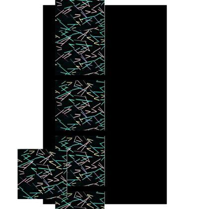 Mix-Matched Color Line Design Slip Dress ©