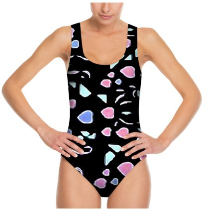 Colorful Heart Design Swimsuit © US and National