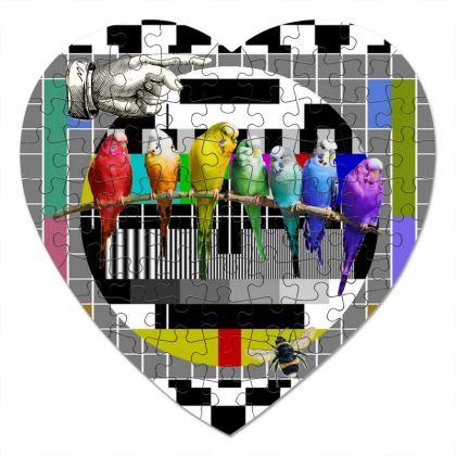 Test Card Variation Heart Jigsaw