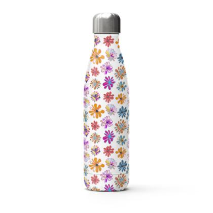Rainbow Daisies Collection Stainless Steel Thermal Bottle