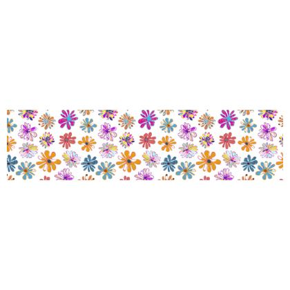 Rainbow Daisies Collection on white Cup and saucer