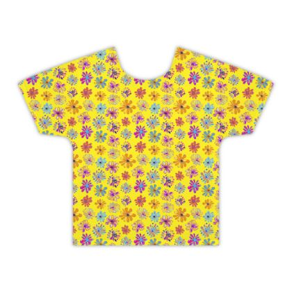 Rainbow Daisies Collection on yellow Kids T shirt