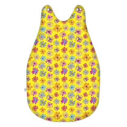 Rainbow Daisies Collection on yellow Baby Sleeping Bag