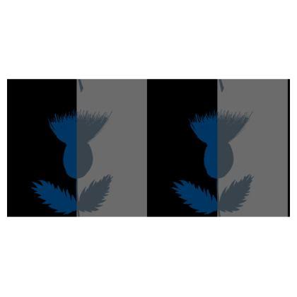 Black and grey striped masks