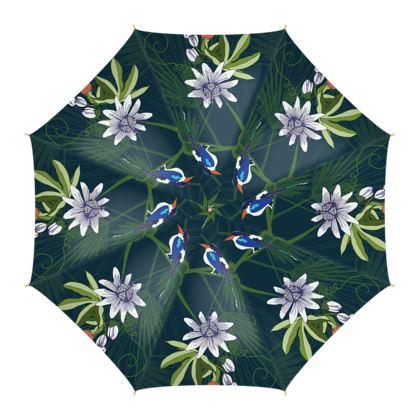 Paradise Kingfishers Collection - Umbrella