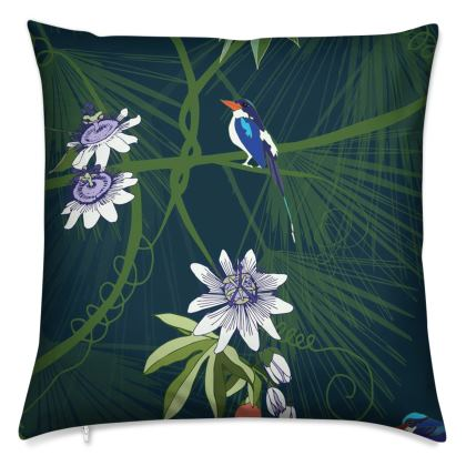 Paradise Kingfishers Collection - Luxury Cushion