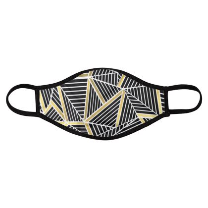 Abstraction Gold Face Mask
