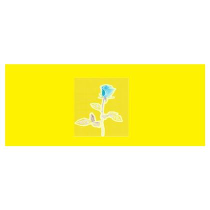 White, Yellow and Sky Blue Rose Design Hard Glasses Case