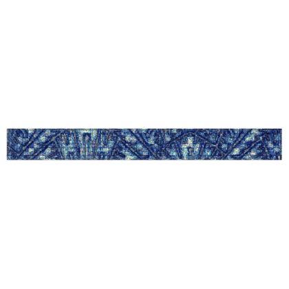 Mutli-Color Blue Diamond and Geometric Design Fleece Scarf ©