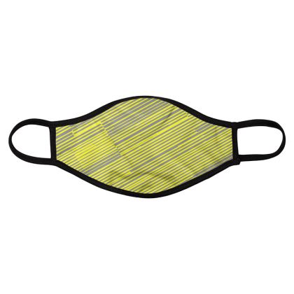 Face Mask Four Pack Lime Lines Print