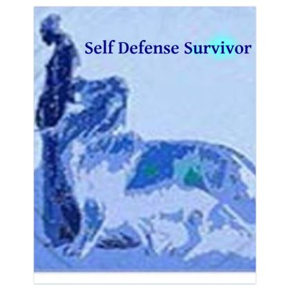 Blue Woman With Lion Self Defense Survivor Poster Print ©