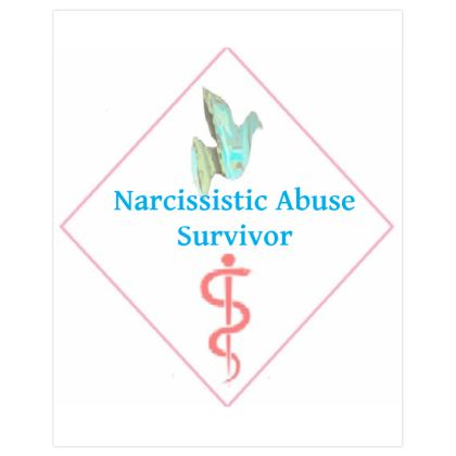 Blue Dove and Pink Caduceus Poster Print For Survivors of Narcissistic Abuse ©