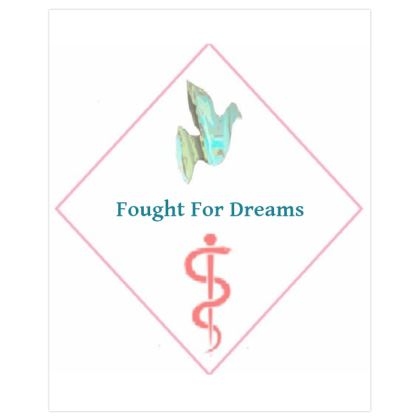 Blue Dove and Pink Caduceus Dream Fighter Poster Print