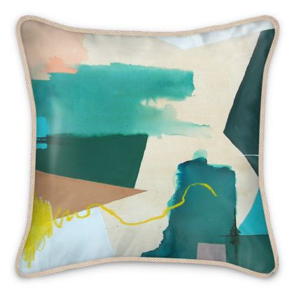 Silk Cushion with Contrasting Side - Only Way Round is Through