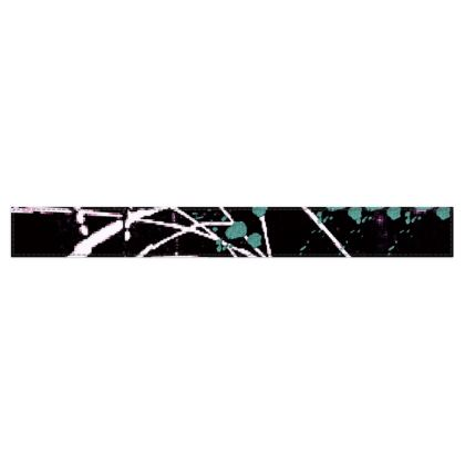 Black, White and Teal  Abstract Design  © Fleece Scarf